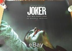 Joker (2019) Film D'origine Royaume-uni Cinéma Quad Poster Joaquin Phoenix Stunning Rare