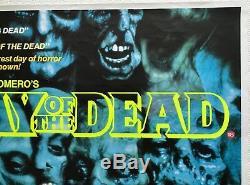Jour Du Film Mort Film Original Quad Poster 1985 George A. Romero Zombies