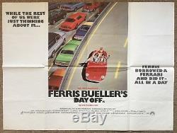 Journée De Ferris Bueller, Original 1986 Britannique Quad Film Affiche De Film, Ferrari