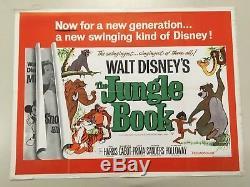 Jungle Book 1967 D'origine Britannique Quad Movie Poster Disney