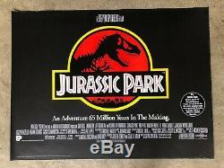 Jurassic 1993 Parc D'origine Britannique Quad Affiche Du Film