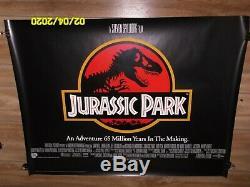 Jurassic Park Britannique Quad Affiche Du Film Steven Spielberg Dinosaurs On The Loose