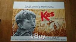 Kes (1969) Royaume-uni Cinéma Quad Affiche Classique Du Film Britannique De Ken Loach