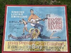 Kid Galahad Elvis Presley Affiche Originale Britannique De Film De Quad 1961