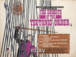 Knights Of The Teutonic Order 1960 Affiche Quad Britannique