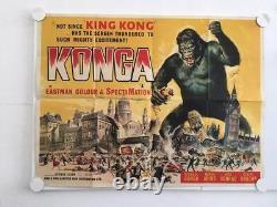 Konga Original Royaume-uni Quad Filmplakat Jahr 1961 Michael Gough