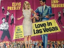 L'amour À Las Vegas 1964 Affiche Originale De Cinéma De Quad Cinema Elvis Ann Margret