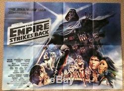 L'empire Contre-attaque 1980 Affiche Originale De Film Britannique Quad Film Star Wars