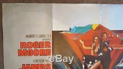 L'espion Qui Me Originale Loved Affiche Du Film Quad Britannique James Bond 007 Roger Moore