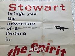 L'esprit De St Louis Film Original Quad Royaume-uni Affiche De Film 1957 James Stewart