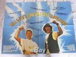 L'excellente Aventure De Bill And Ted Affiche Originale Du Film Quad Britannique De 1989 Keanu