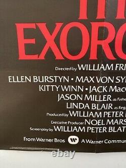 L'exorciste / L'omen Double Bill Uk Quad 30x40 Affiche De Film D'horreur Originale