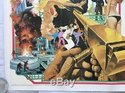L'homme Au Pistolet D'or, James Bond, Lin Originale 1974 Quad Film Affiche Du Film