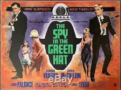 L'homme De U. N. C. L. E. Uk Quad Affiche Du Film L'espion Dans Le Chapeau Vert