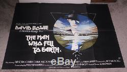 L'homme Qui Est Tombé Sur La Terre 1976 Original U. K. Quad 30x40 Affiche Du Film David Bowie