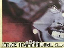 L'homme Qui S'est Hanté Original Movie Quad 1970 Roger Moore Chantrell Art