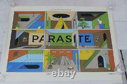 La Boca Rare Original Uk Realease Parasite Bong Joon-ho Quad Film Movie Affiche