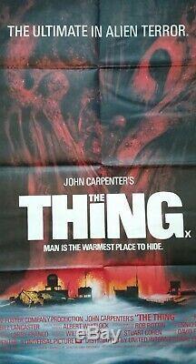 La Chose (1982) Originale Affiche Du Film Quad Britannique John Carpenter Science-fiction Horreur