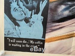 La Chute De La Maison Usher Originale Britannique British Quad Affiche De Film 1960 Rare