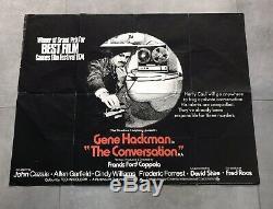 La Conversation Affiche Originale Du Film Gene Hackman 1974 Quad