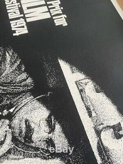 La Conversation Au Royaume-uni Quad (1974) Entoilée Film Affiche Originale Gene Hackman