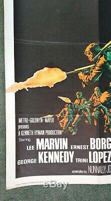 La Douzaine De Dirty (1967) Film Original Quad Au Royaume-uni Affiche-1st Marvin Bronson Release-