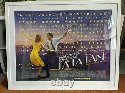 La La Land Original Cinema Uk Quad 40x30 Movie Poster Ryan Gosling Framed
