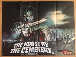 La Maison Par Le Cimetière Affiche Originale Du Film De Cinéma Britannique U. K. Quad