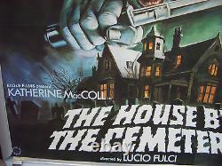 La Maison Près Du Cimetière Quad Film Affiche Lucio Fulci