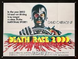 La Mort Race 2000 1975 Quad Britannique Roger Corman David Carradine Filmartgallery