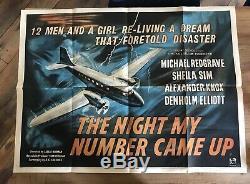 La Nuit My Number Came Up Originale Uk Quad Filmplakat 1955 Michael Redgrave