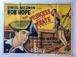 La Princesse Et Le Pirate, Uk Quad, Affiche De Film / Film, 1944 Bob Hope