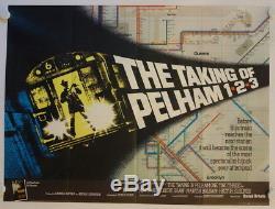 La Prise De Pelham One Two Three (premier Film Anglais) Affiche Du Film Quad Britannique