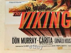 La Reine Viking Originale Du Film Poster Quad 1967 Tom Chantrell Art, Don Murray