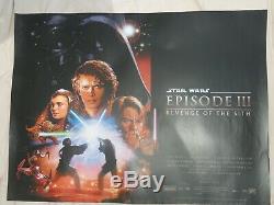 La Revanche Des Sith Film D'origine Britannique Quad Affiche 2005 Star Wars Ep 3