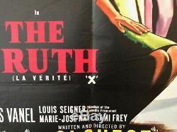 La Vérité (la Verite) Brigitte Bardot Originale Uk Affiche Du Film Quad