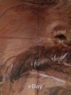 La Vie Et Du Juge Roy Bean D'origine Royaume-uni Quad Affiche De Film 1972