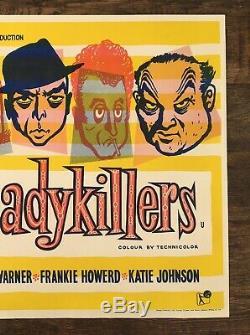 Ladykillers Vintage Ealing Film Publicité Film U. K. H / S Affiche De Quad Art