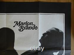 Last Tango In Paris (1972) Affiche Originale D'un Quad/film Britannique, Marlon Brando