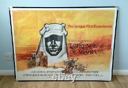 Lawrence Of Arabia (1962, Rr1970) Affiche Originale Du Quad Britannique Peter O'toole