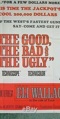 Le Bon La Brute Et Le Vilain (1966) 1er Original Affiche Film Quad Uk Version