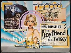 Le Boy Friend Boyfriend'72 Britannique Ken Russell Quad Bleu Twiggy Filmartgallery