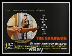 Le Cinémasterpieces Graduate Rare Poster Original De Film Britannique De Britannique Britannique 1967