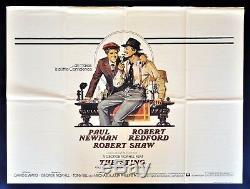 Le Ctingmasterpieces De Sting Poster Film Original Britannique En Quadre Britannique 1974 Paul Newman