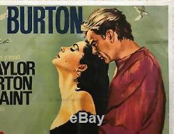 Le Film Original Sandpiper Quad Poster 1965 Richard Burton Elizabeth Taylor