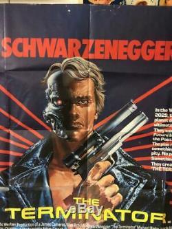 Le Film Original Terminator Affiche Britannique Uk Quad Schwarzenegger Rare