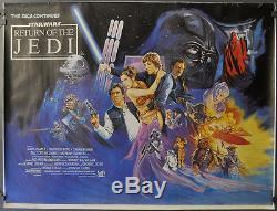 Le Film Star Wars Le Retour Du Jedi 1983 Affiche Du Film Quad Rolled Orig 30x40 1983