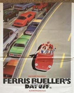 Le Jour Férié De Ferris Bueller, Affiche Originale De 1986 British Quad Movie, Ferrari