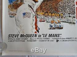 Le Mans, Affiche De Cinéma Originale Britannique Quad Movie 1971, Steve Mcqueen