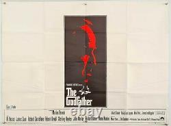 Le Parrain 1972 Affiche De Cinéma Originale Du Royaume-uni Quad Marlon Brando Al Pacino